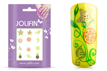 Jolifin Glitter Nailart Sticker 55