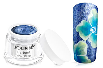Jolifin Farbgel denim Glitter 5ml