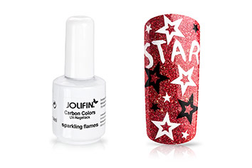 Jolifin Carbon Colors UV-Nagellack sparkling flames 14ml