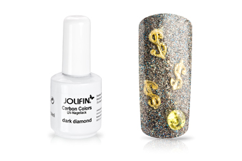 Jolifin Carbon Colors UV-Nagellack dark diamond 11ml