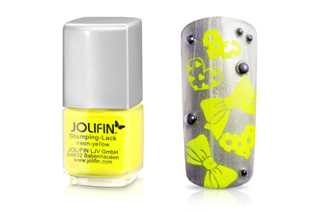 Jolifin Stamping-Lack - neon-yellow 12ml