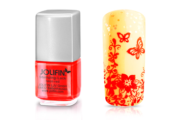 Jolifin Stamping-Lack - neon-red 12ml