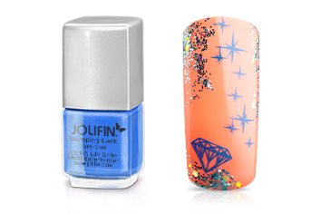 Jolifin Stamping-Lack - pure-blue 12ml