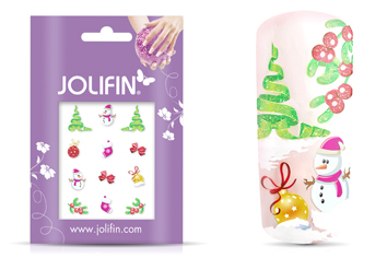 Jolifin Christmas Glitter Tattoo 1