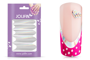 Jolifin Chrome French Sticker silber