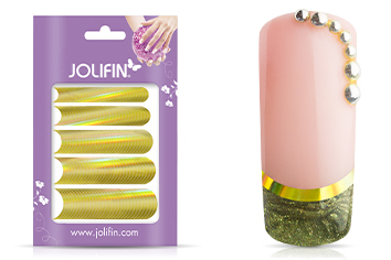 Jolifin Chrome natural French Sticker gold