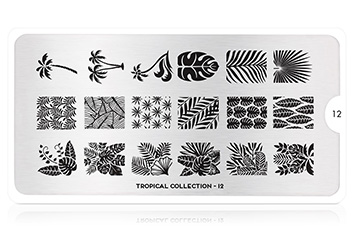MoYou-London Schablone Tropical Collection 12
