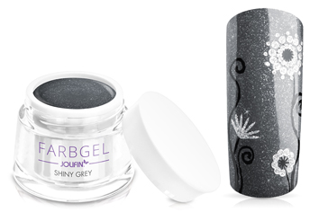 Jolifin Farbgel shiny grey 5ml