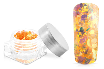 Jolifin Nail-Art Glitter Flakes Neon-Orange