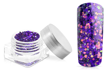 Jolifin Illusion Glitter VII purple galaxy