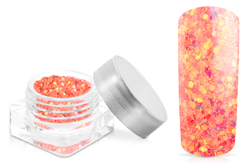 Jolifin Illusion Glitter VII peach