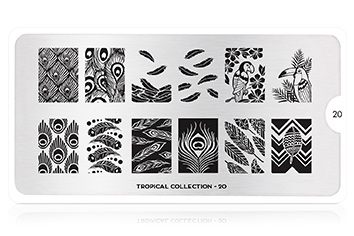MoYou-London Schablone Tropical Collection 20