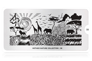 MoYou-London Schablone Mother Nature Collection 08