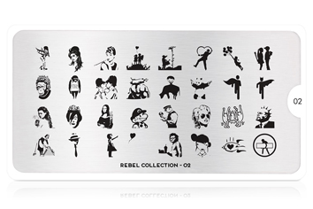 MoYou-London Schablone Rebel Collection 02