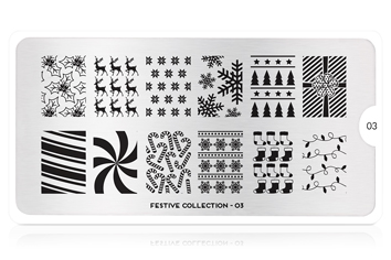 MoYou-London Schablone Festive Collection 03