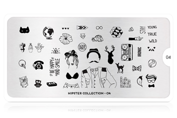 MoYou-London Schablone Hipster Collection 04
