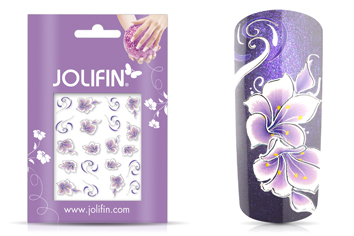 Jolifin Airbrush Tattoo silver Nr. 1
