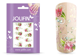 Jolifin Airbrush Tattoo Silber Nr. 4