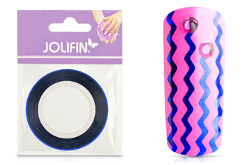 Jolifin Pinstripes Wave blau