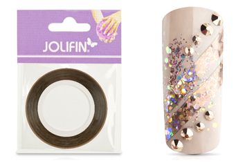 Jolifin Pinstripes hologramm braun - 3mm