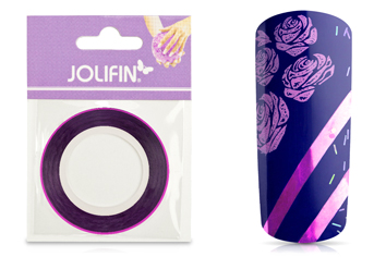 Jolifin Pinstripes chrome pink - 2mm