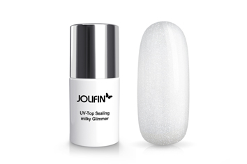 Jolifin UV Top-Sealing - milky Glimmer 11ml