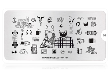 MoYou-London Schablone Hipster Collection 01