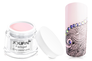 Jolifin Farbgel shiny pastell-pink 5ml