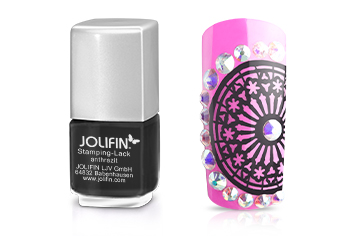 Jolifin Stamping-Lack - anthrazit 12ml