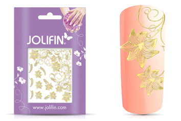 Jolifin Ornament Nail-Sticker Gold 5