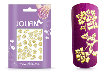 Jolifin Ornament Nail-Sticker Gold 6