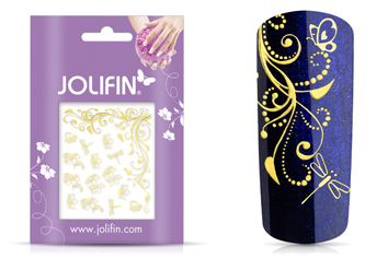 Jolifin Ornament Nail-Sticker Gold 7