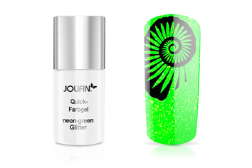 Jolifin Quick-Farbgel neon-green Glitter 11ml