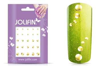 Jolifin Nieten-Sticker Gold