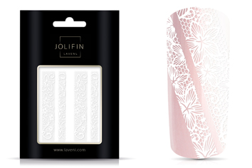 Jolifin LAVENI Lace Sticker - White 2