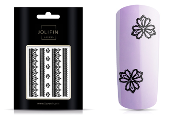LAVENIE Lace Sticker - Black 2