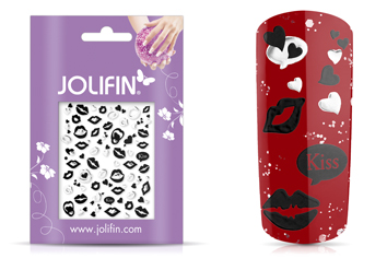 Jolifin Silver-Black Nailart Sticker 3