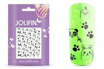 Jolifin Silver-Black Nailart Sticker 4