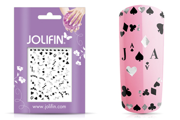 Jolifin Silver-Black Nailart Sticker 5