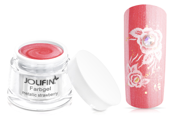 Jolifin Farbgel metallic strawberry 5ml