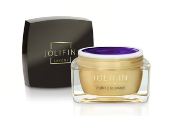Jolifin LAVENI Farbgel - purple Glimmer 5ml