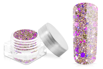 Jolifin Hexagon Glittermix purple-champagne