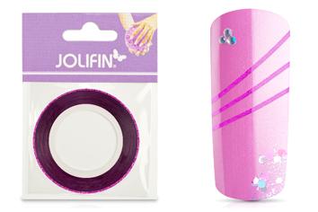 Jolifin Glitter Pinstripes pink 1mm