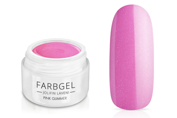 Jolifin LAVENI Farbgel - pink Glimmer 5ml