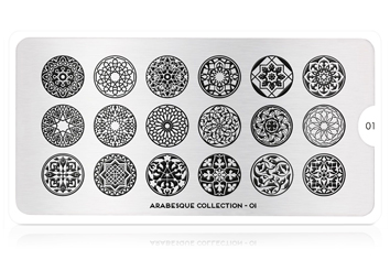MoYou-London Schablone Arabesque Collection 01