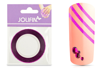 Jolifin Glitter Pinstripes pink 2mm