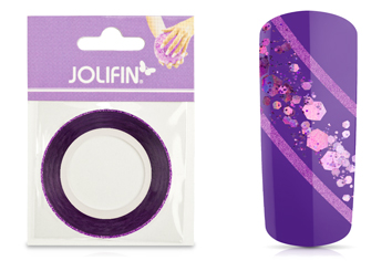 Jolifin Glitter Pinstripes lila 2mm