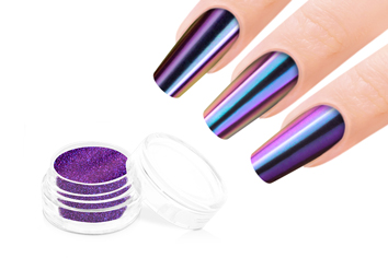 Jolifin Mirror-Chrome Pigment - FlipFlop pink & blue