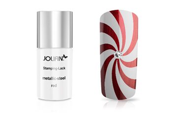 Jolifin Stamping-Lack metallic-steel red 11ml