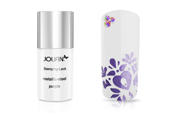 Jolifin Stamping-Lack metallic-steel purple 11ml